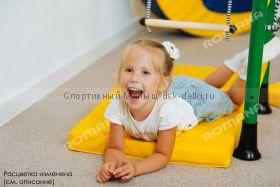 Мат гимнастический желтый 100х50х6 см